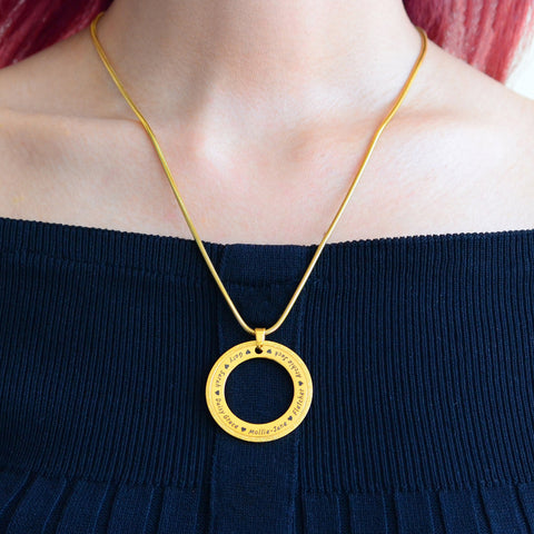 Sparkling Circle of Trust Necklace Gold Personalized Belle Fever 5