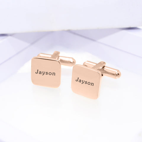 Personalized Square Cufflink Belle Fever 1