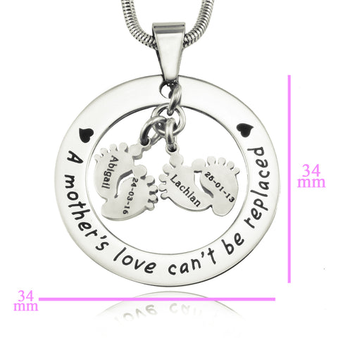 Cant Be Replaced Necklace Double Feet 12mm Personalized Belle Fever 8