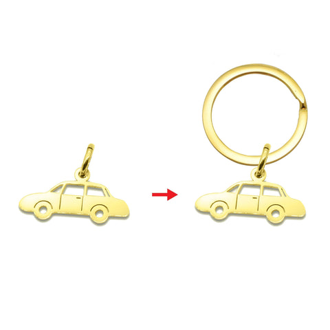 Car Charm for Keyrings - Gold Belle Fever 4