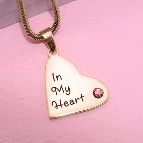ADDITIONAL Childrens Heart Birthstone Necklace Belle Fever