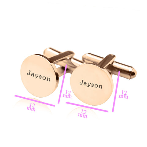 Personalized Round Cufflink Belle Fever 6