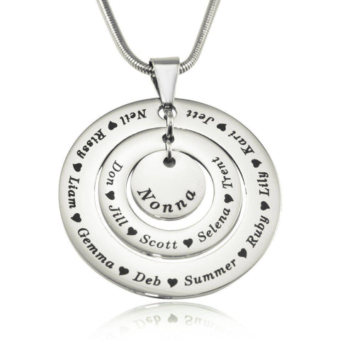 Circles of Loved Ones Personalized Necklace Belle Fever 2