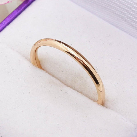 Classic Band Ring Rose Gold Belle Fever 1