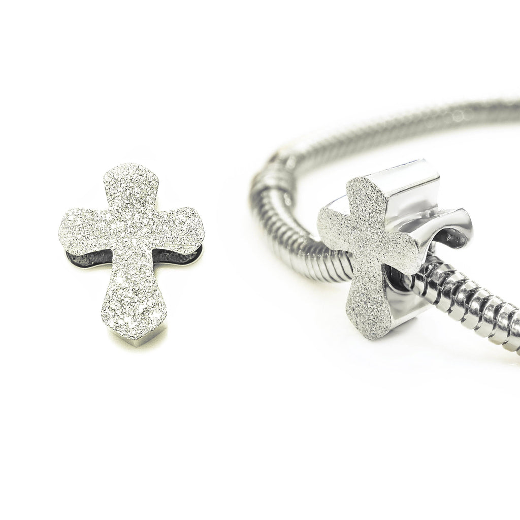Sparkling Cross Charm for Moments Bracelet Silver Belle Fever 2