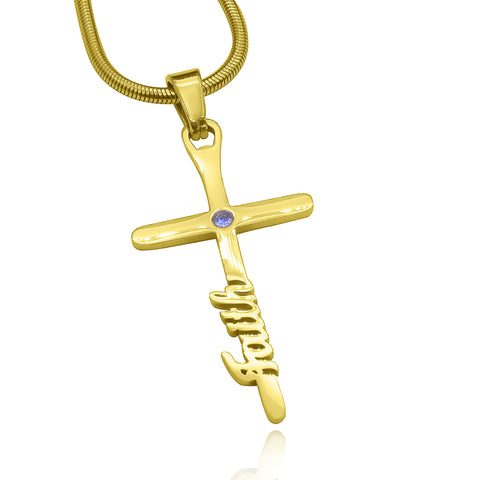 Cross Name Necklace Belle Fever 3