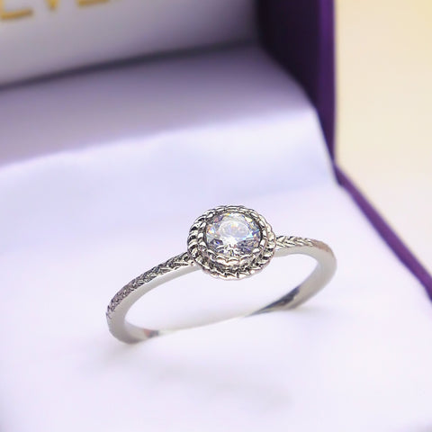 Crystal Soul Ring - Silver-Belle Fever Personalized Jewelry 1