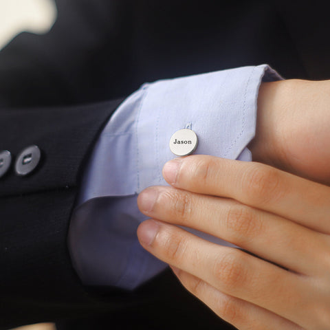 Personalized Round Cufflink Belle Fever 5