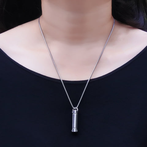 Cylinder Cremation Necklace