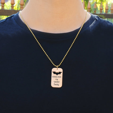 Dog Tag Batman - Two Necklaces
