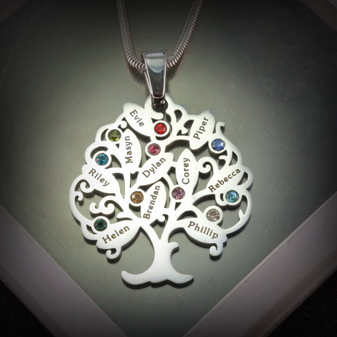 Tree of My Life Birthstones Necklace Belle Fever
