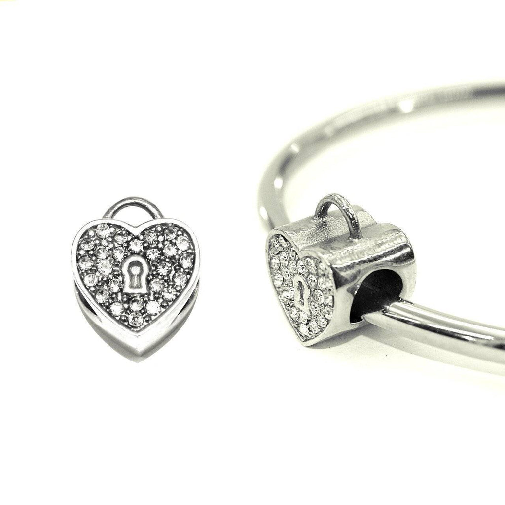 Diamond Heart Charm For Moments Bracelet Silver Belle Fever 1