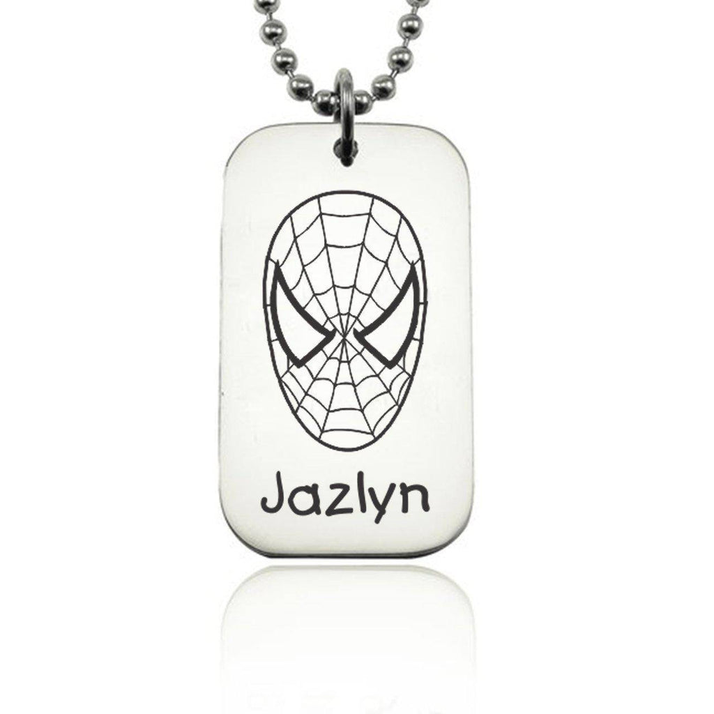 Kids Tag Necklace - Silver Personalized Belle Fever 2