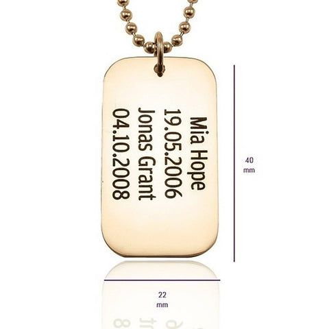 Dog Tag Necklace SINGLE Personalized Belle Fever 5