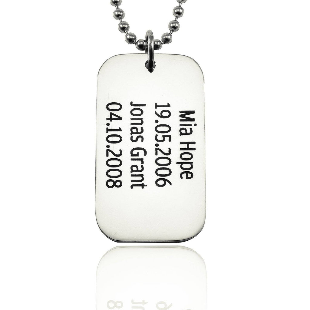 Dog Tag Necklace SINGLE Personalized Belle Fever 2