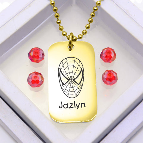 Kids Tag Necklace - Gold Personalized Belle Fever 1