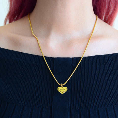 Double Heart Necklace Personalized Belle Fever 7