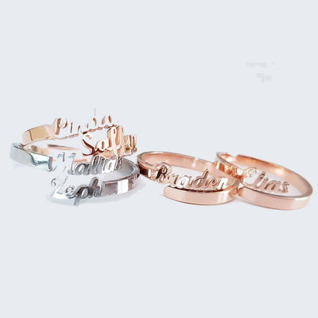Double Name Ring Personalized Belle Fever 1