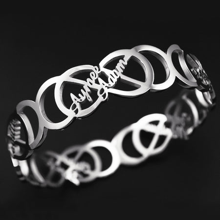Endless Double Infinity Bangle Personalized Belle Fever 1