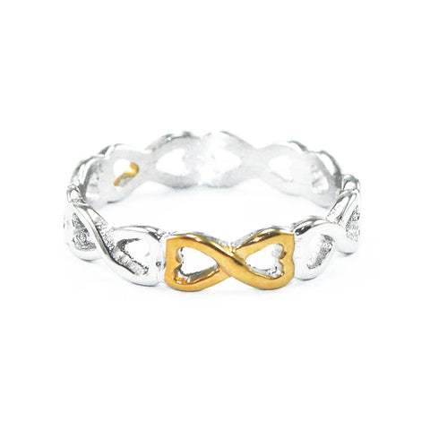 Endless Infinity Ring Two Tone Gold Belle Fever 2
