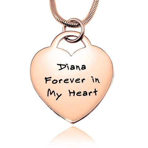 Forever In My Heart Handwriting Necklace