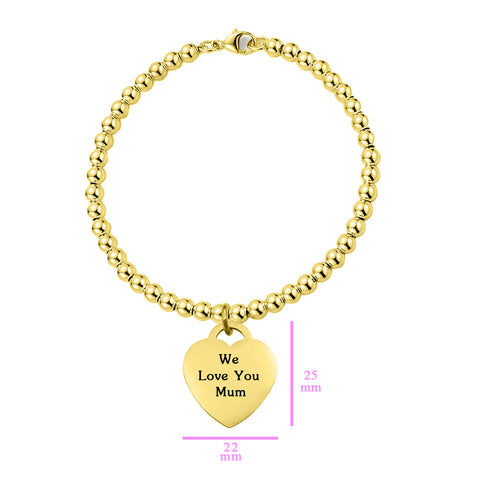 Forever In My Heart Charm Bracelet