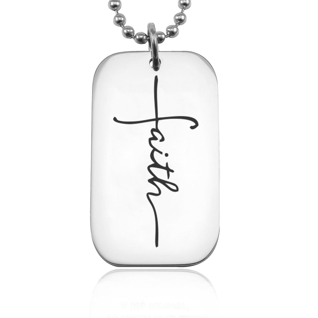 Faith Dog Tag Necklace Belle Fever 2