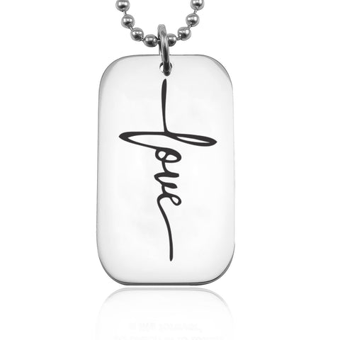 Faith Dog Tag Necklace Belle Fever 8