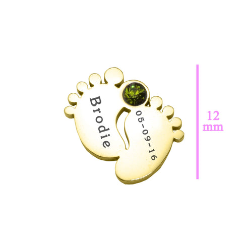 Feet Birthstone Charm 12mm for Dream Locket Belle Fever