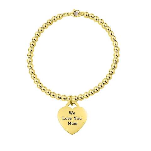 Forever In My Heart Charm Bracelet Personalized Belle Fever 3