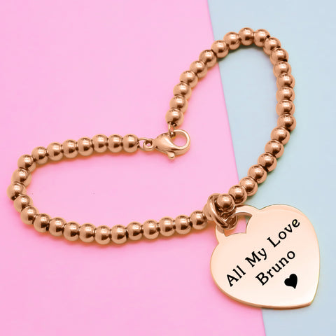 Forever In My Heart Charm Bracelet Personalized Belle Fever 1