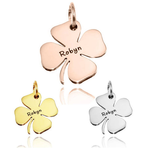Four Leaf Clover Charm for Keyrings - Belle Fever Personalized Collage