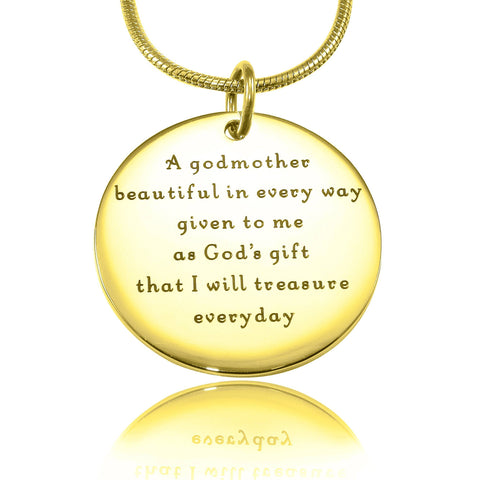 Godmother Necklace Gold Personalized Belle Fever 3