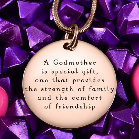 Godmother Necklace Personalized Belle Fever 1