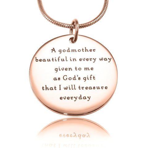 Godmother Necklace Rose Gold Personalized Belle Fever 4