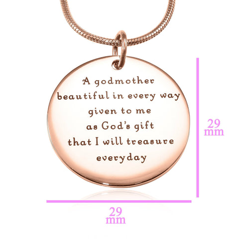 Godmother Necklace Rose Gold Personalized Belle Fever 6