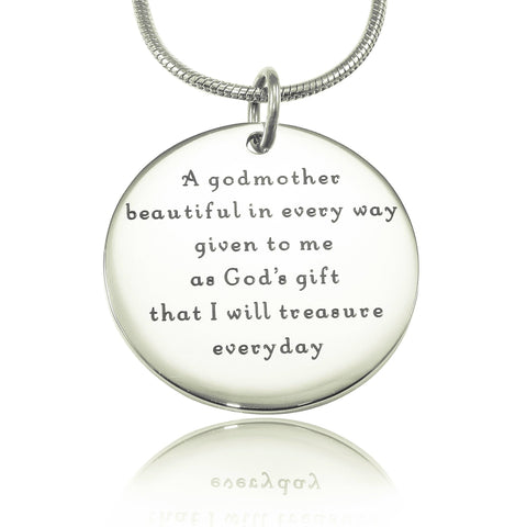 Godmother Necklace Silver Personalized Belle Fever 2