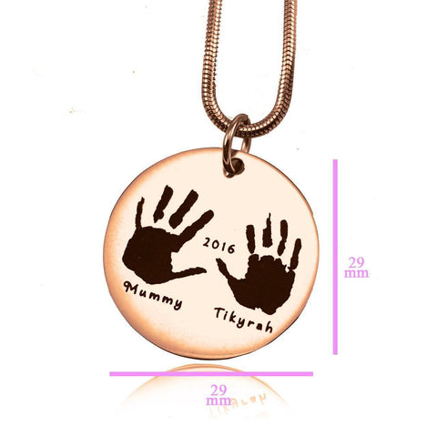 Hand on My Heart Necklace Rose Gold Personalized Belle Fever 6