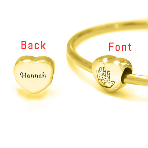 Personalized Hand on My Heart Charm For Moments Bracelet Gold Belle Fever 5