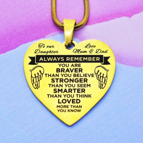 Heart Necklace - Always Remember