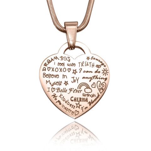 Heart of Hope Necklace Rose Gold Personalized Belle Fever 4
