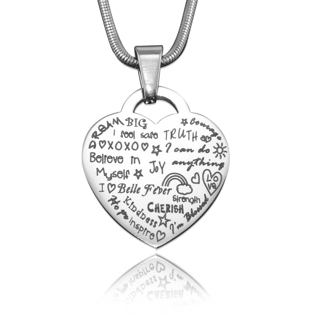 Heart of Hope Necklace Silver Personalized Belle Fever 2