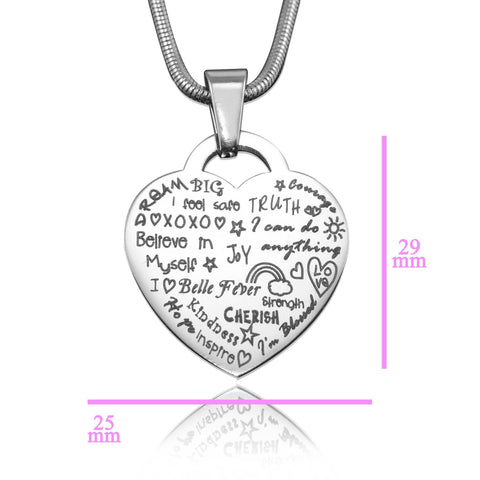Heart of Hope Necklace Silver Personalized Belle Fever 5