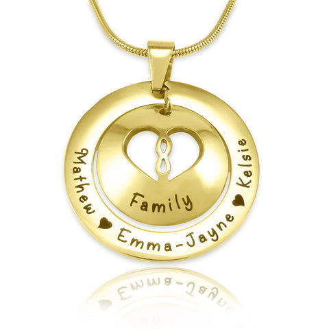 Infinity Dome Necklace Gold - Belle Fever Personalized Jewelry 3