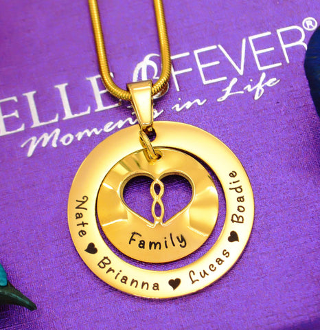 Infinity Dome Necklace - Gold -Belle Fever Personalized Jewelry 1