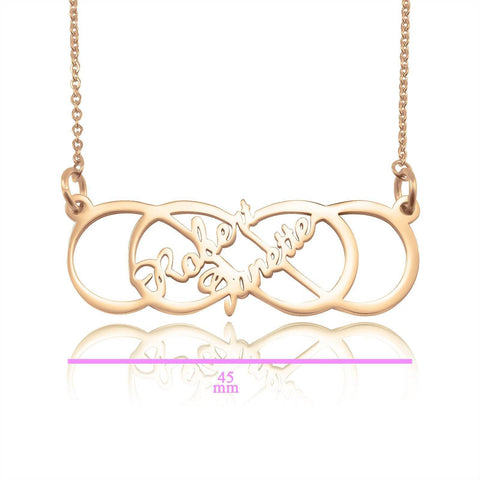 InfinityxInfinity Necklace Personalized Belle Fever 5