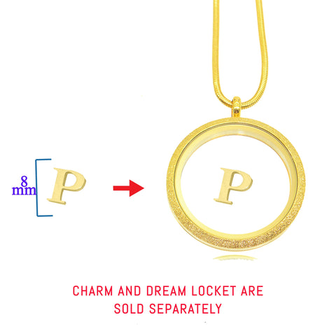 Initial Charm for Dream Locket - Belle Fever Personalized 2