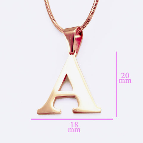 Initial Necklace - Rose Gold - Belle Fever Personalized Jewelry 6