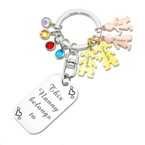 Kids Love Handwriting Keyring Tag - (1 Silver Charm Included)