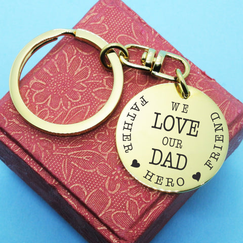 Keyring Single Disc - Gold Personalized Belle Fever 1